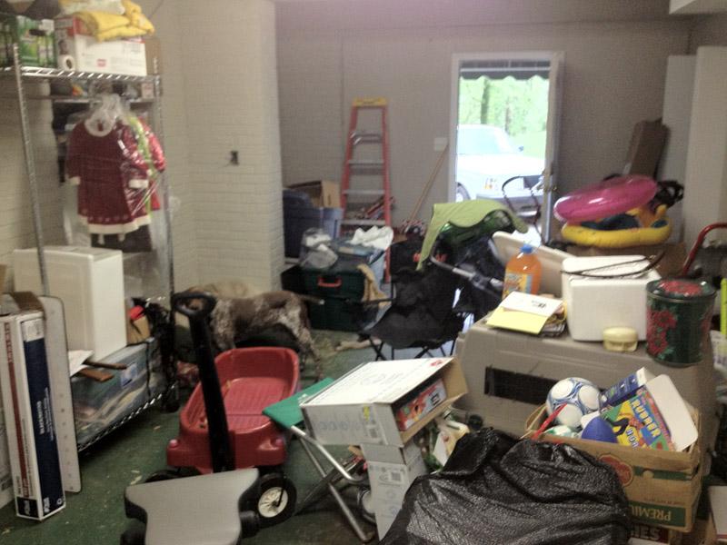 My Friend, Katherine organizes basements