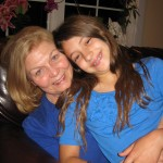My mom and daughter