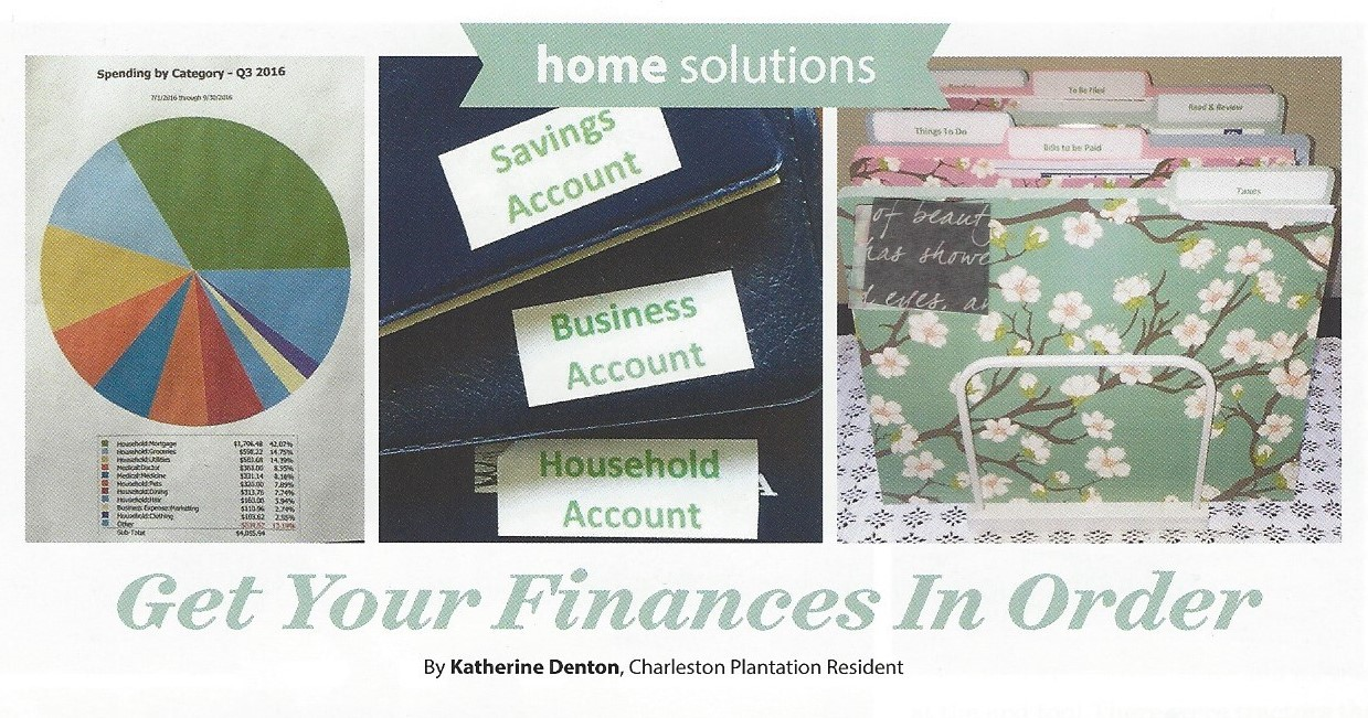 Macon ga Certified Professional Daily money manager, Certified Senior Advisor and Professional Organizer Katherine DentonOrganized Finances