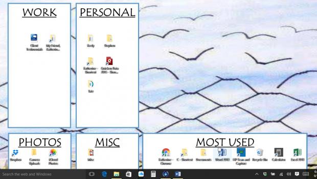 organize computer desktop & files
