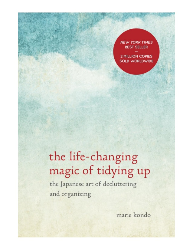 Macon Organizer My Friend, Katherine reviews Marie Kondo's book